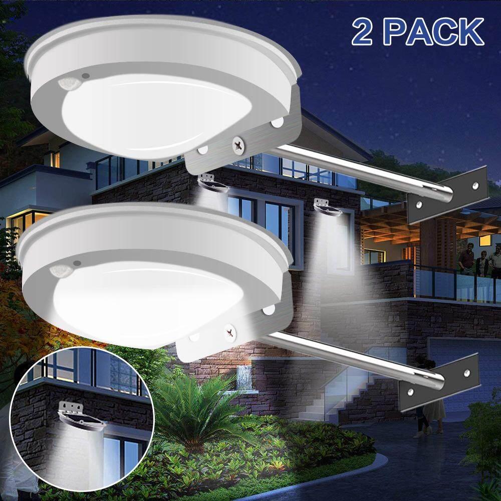 28 Lampu Led Surya Luar Ruangan dengan Pemasangan Tiang 2 Mode Lampu Selokan Tenaga Surya untuk 2 Tangga Lampu Dinding Pak Lampu Teras Gudang