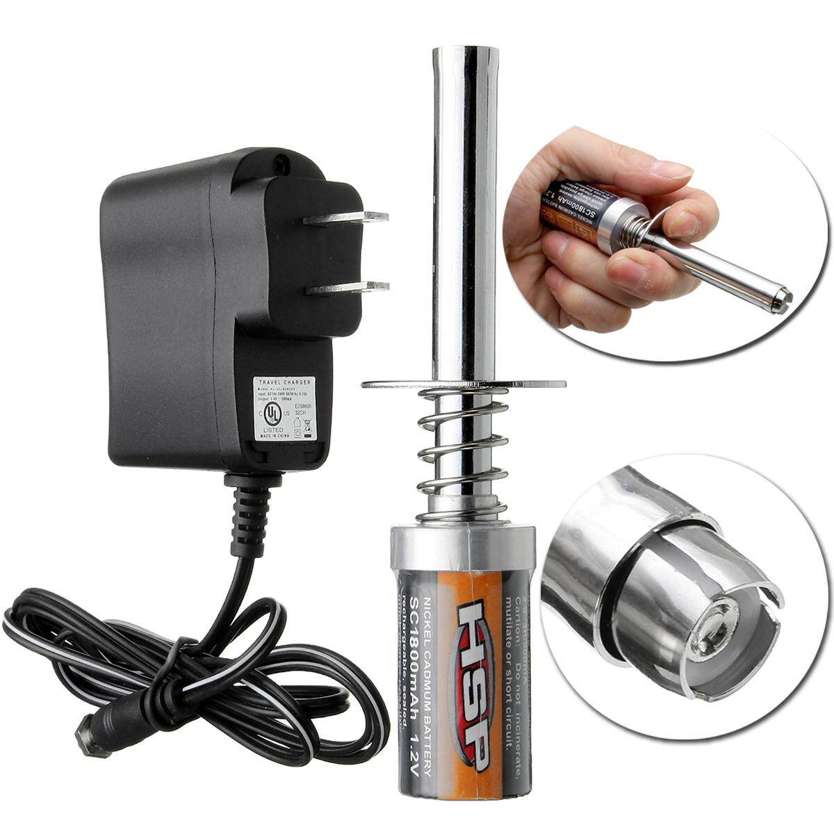 80101 Pro Glow Plug Igniter S tarter Per Truck Car HSP Char RC Plane ger Nitro