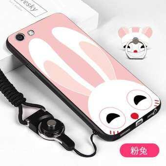 Soft เคสสำหรับ VIVO Y71 สีชมพูกรณีสัตว์แท่นวางโทรศัพท์แหวน-