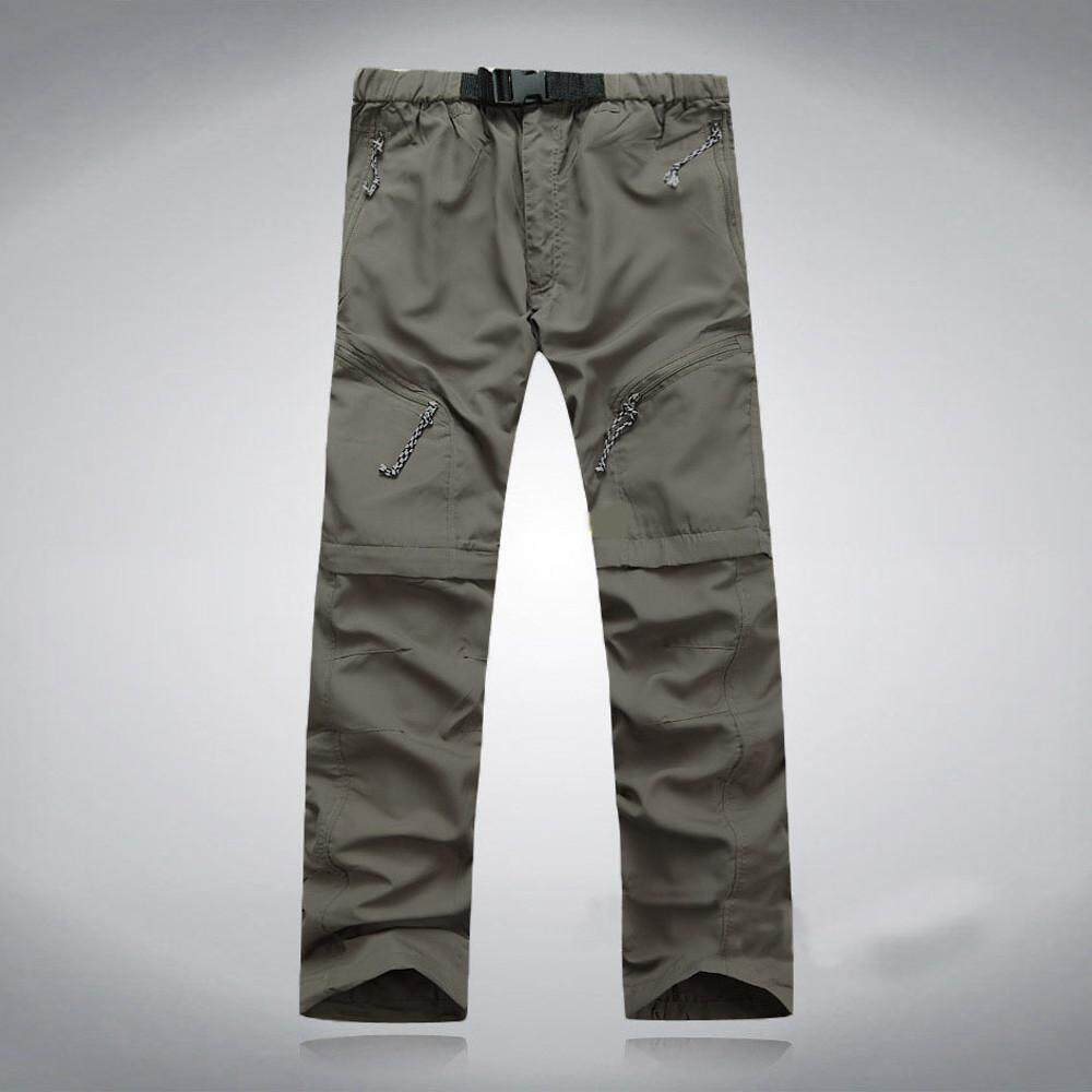 New Men Summer Quick Dry Outdoor Thin Detachable Waterproof Pants Trousers