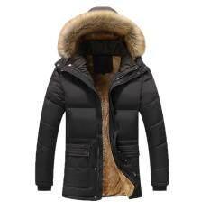 Leopoldharr Thời Trang Mùa Đông Ấm Dày Sang Trọng Cổ Áo Có Mũ Lông Cừu Áo Khoác Ngoài Nam Áo Khoác Áo Khoác