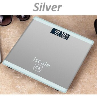 400lb 180kg LCD Electronic Digital Tempered Glass Scale Bathroom Body Weight