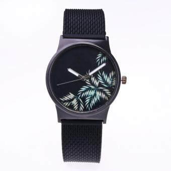 Womens Fashion Picture Design Silicone Band Analog Alloy Quartz Wrist Watch C