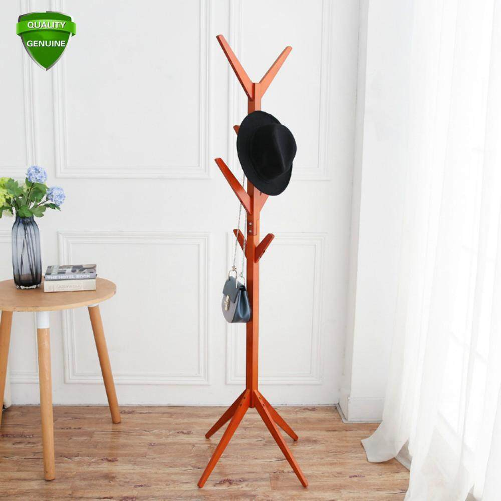 5 Color Simple Wooden Hat Rack, Fashion Coat Rack, Clothing Umbrella Umbrella Hanger, Modern Living Room Clothes Hanger. - intl