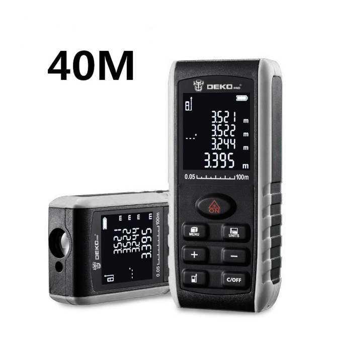 Deko LRE521 Laser Genggam Pengukur Jarak Mini Lampu Laser Rangefinder Tape Pencari Jarak Ukuran Diastimeter 40