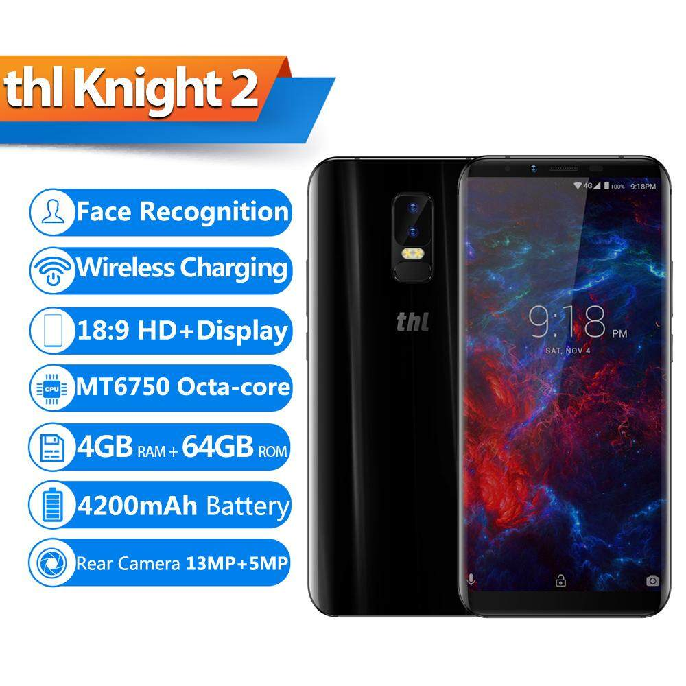 thl Knight 2 4G Mobile Phone Face Recognition Wireless Charging 6-inch 18:9 HD+ Display MT6750 Octa-core 4GB+64GB - intl