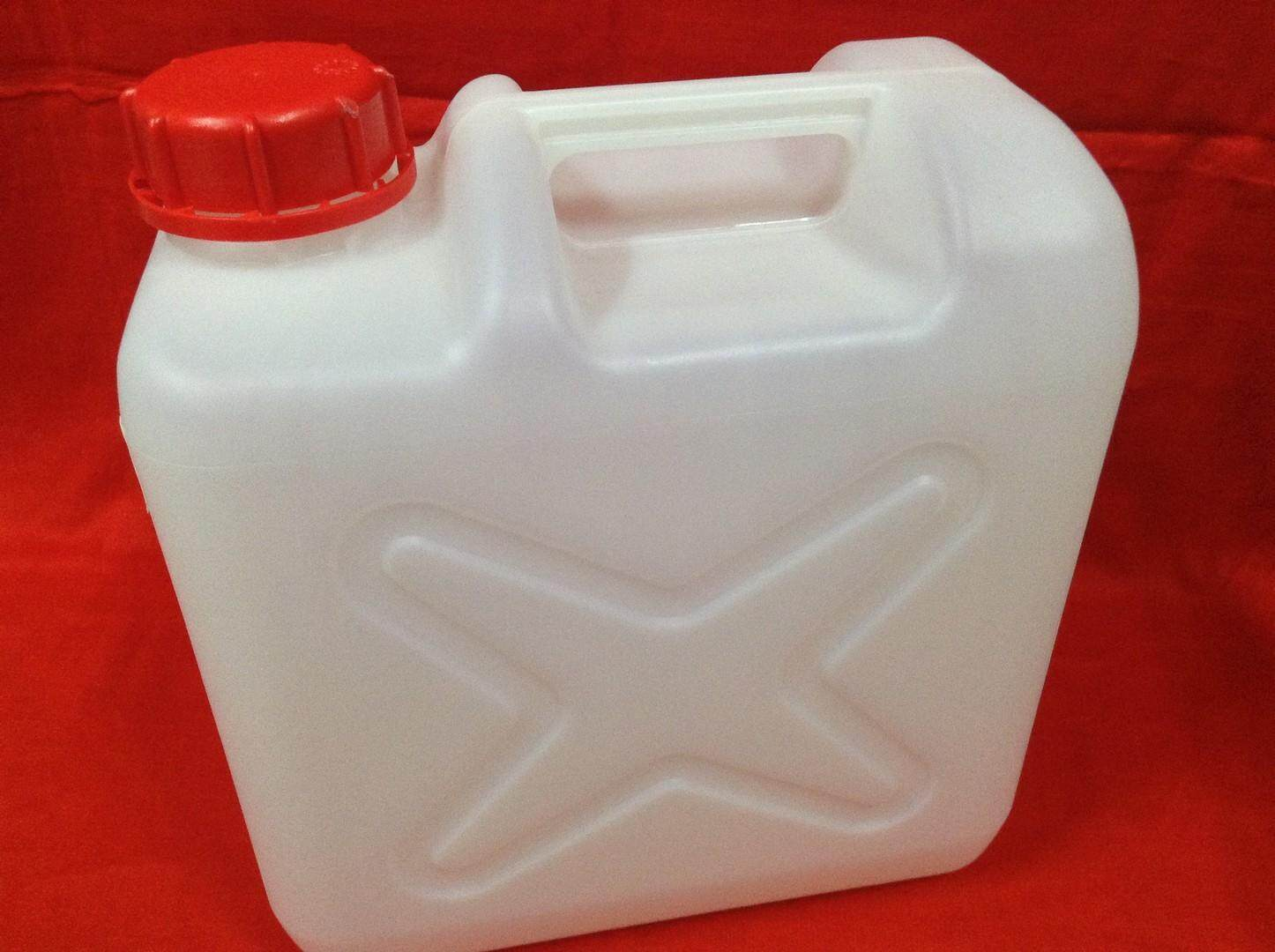 2pc Jerry Can 10 Liter for Petrol, Chemical, Alkaline Water. Ship within 6 hours (Off White)