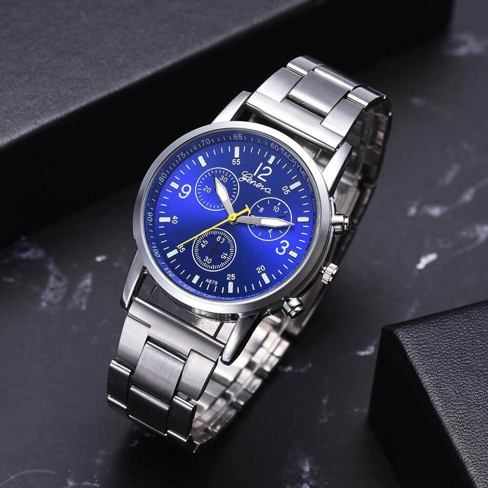 Fashion Men's Steel Belt Analog Sport Quartz Wrist Watch