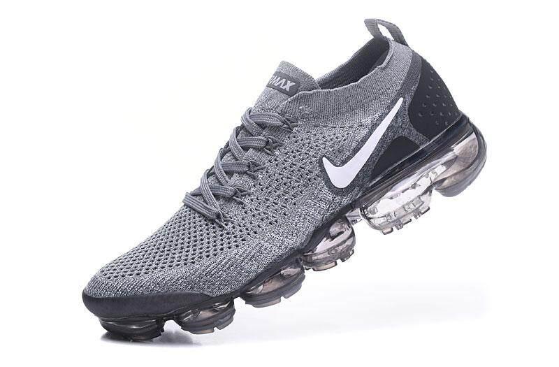 70d8de3b55670 Nike  Air  VaporMax Flyknit  2 Men s Fashion Casual Sneakers Comfortable Running  Sport Shoes (Black