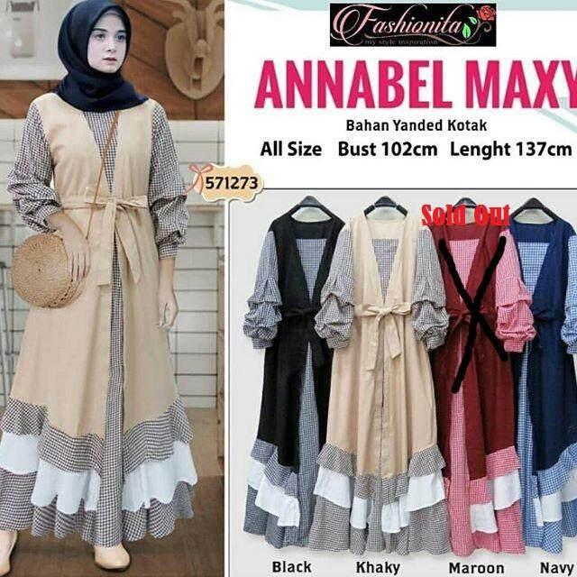 Baju Muslim Original Gamis Annabel Dress Baloteli Women s Long Sleeve  Pakaian Muslimah Kasual Jubah Baju Kurung Hijab Modern RM67.58 334eac6ed6