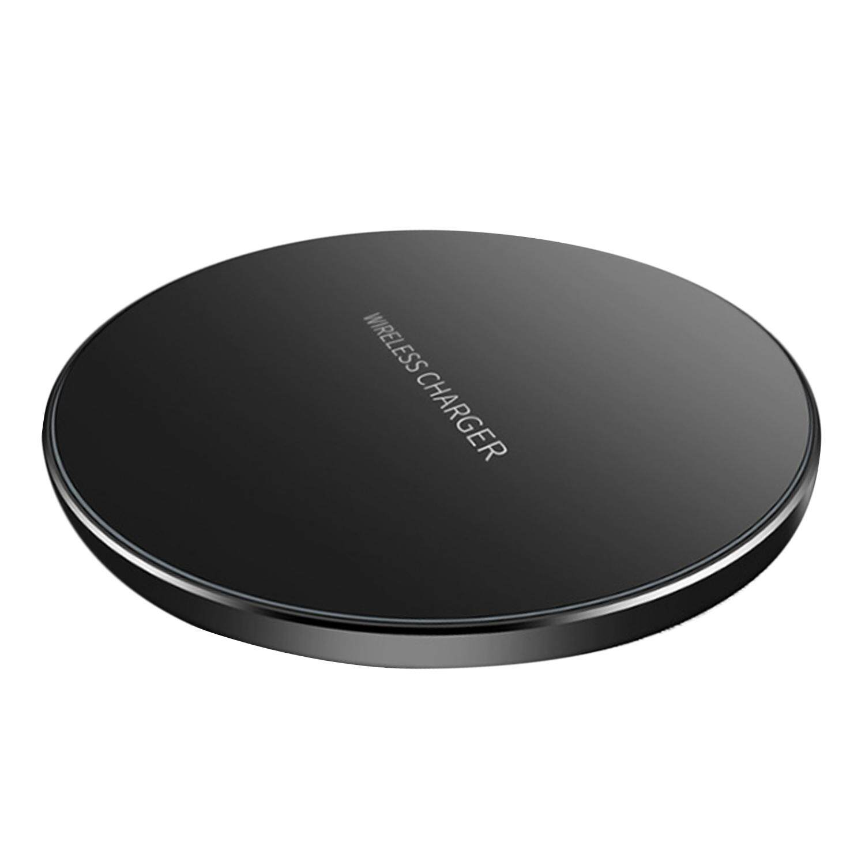 Charger Portabel Ponsel Qi Fast Alas Pengisi Daya Nirkabel untuk Apple iPhone X 8 PLUS Samsung Galaxy S9 S8 S7 S6 Note 5