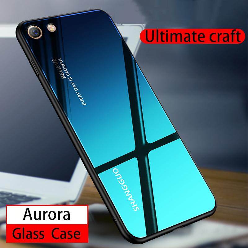 low priced 34acf 2f774 Aurora Glass Case VIVO Y69 Glass Case Full Cover Tempered Glass Back Cover  Casing For VIVO Y69 Case Housing