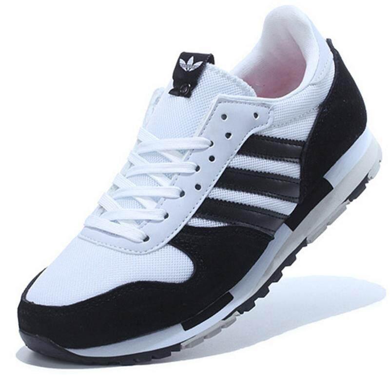 Adidas Men s Retro Running Shoe Fashion Mesh Breathable Sneakers (Black  White) d62f2a5167