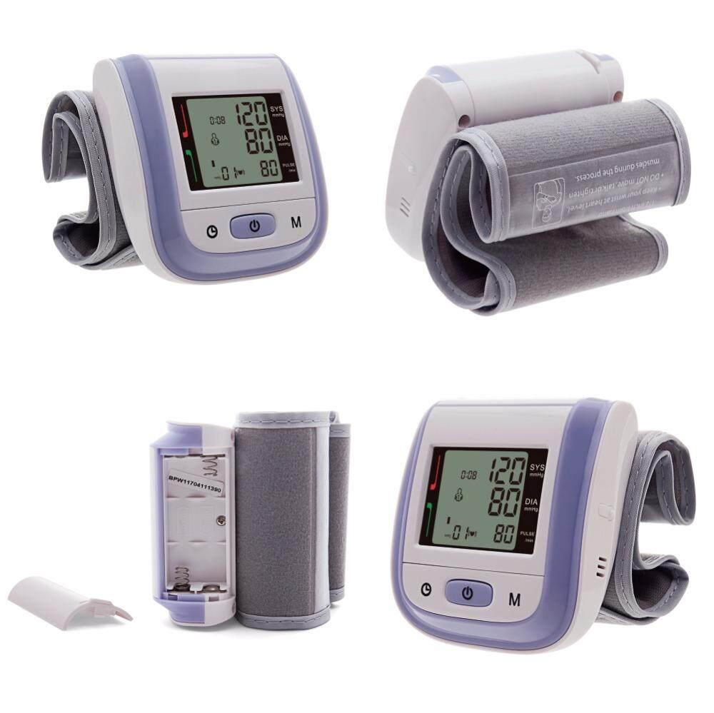 Portable Automatic Digital LCD Display Wrist Blood Pressure Monitor Device Heart Beat Rate Pulse Meter Measure Tonometer 5 color