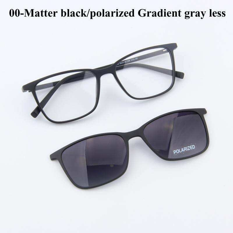 0972255446 Fashion Men TR90 Sun Glasses Frame Magnetic Clip On Polarized Lens Frame  Glasses Dual Purpose Sunglasses