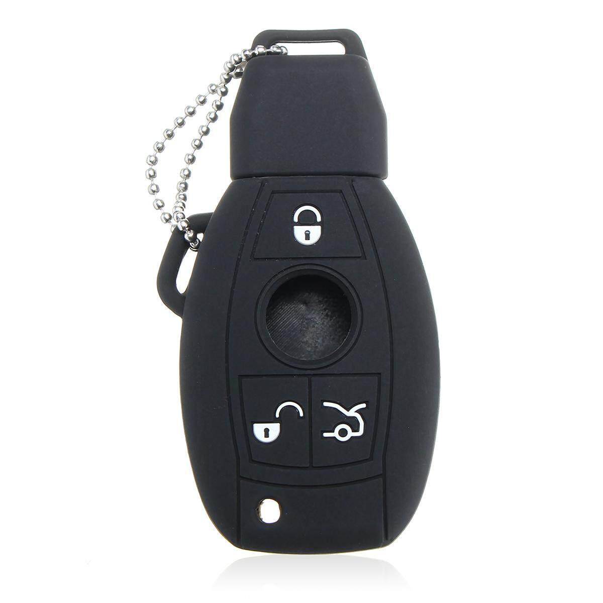 Silica Gel Remote Control Key Protect Sleeve For Mercedes-Benz (Black)