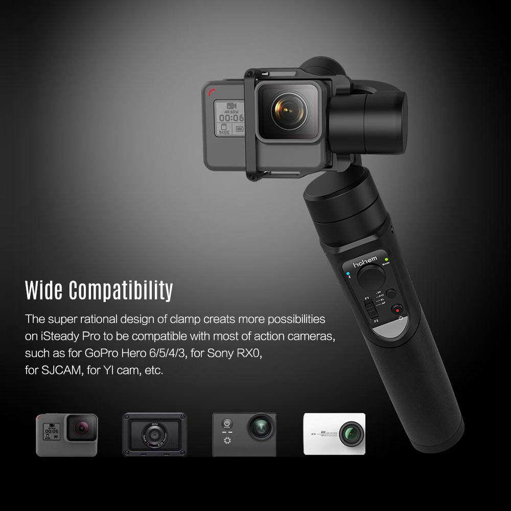 Hohem iSteady Pro 3-Axis Handheld Gimbal Stabilizer Built-in 4000mAh Ba-tte-ry for GoPro Hero 6/5/4/3 for Sony RX0 for SJCAM