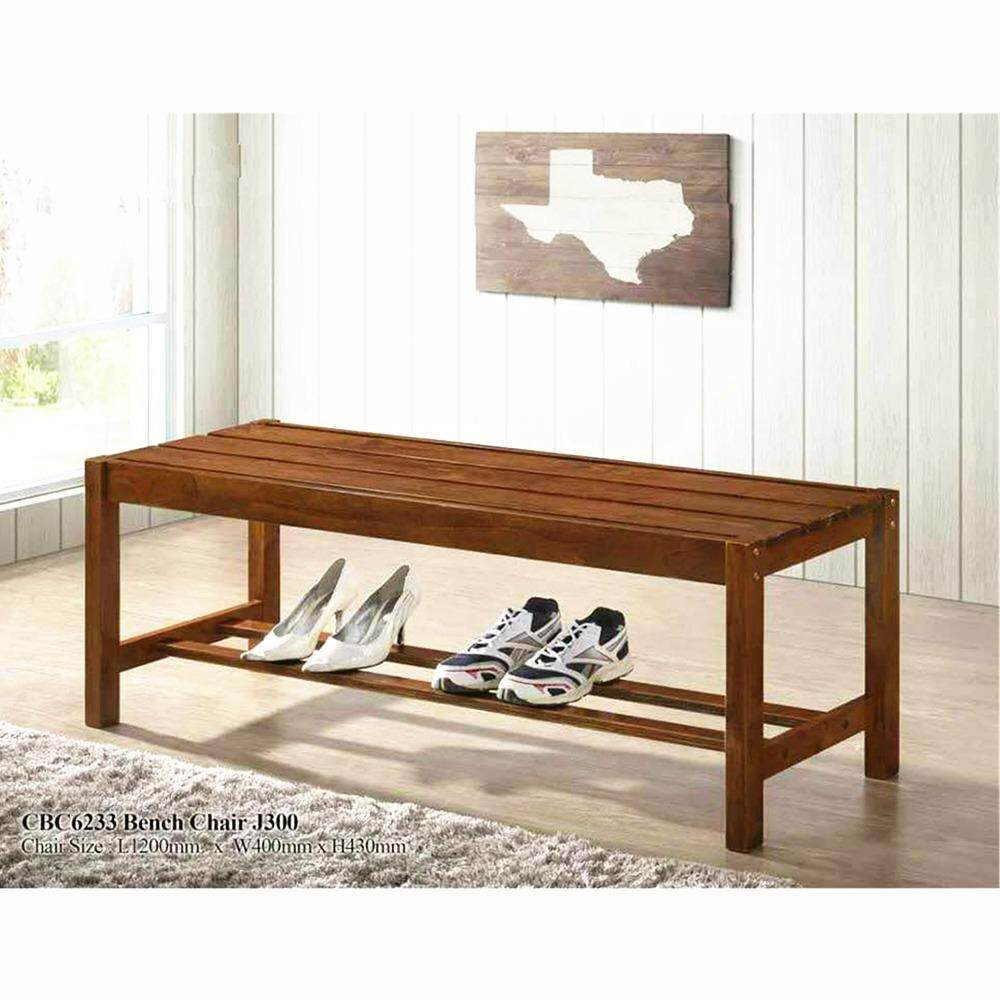 PJY Pine Wood Bench Chair (Dirty Oak)