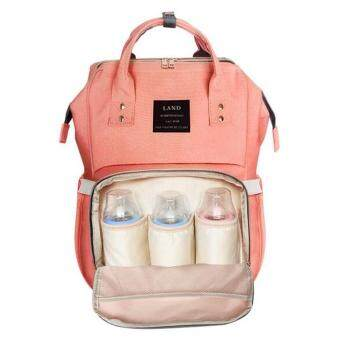 Munmmy Multifunctional Baby Diaper Nappy Backpack Waterproof Large Changing Bag Orange