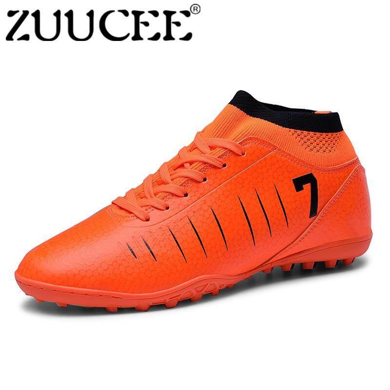 Zuucee Fashion Pria Tinggi Atas Sepatu Sepak Bola Sol Yang Putus-putus  Sepatu Anak Laki 27278a30c2