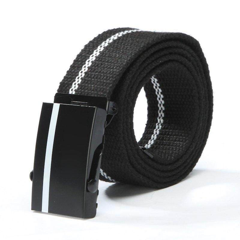 Men\'s Belts Pants Equipment Cinturon Western Strap Men Women Unisex Canvas Belt (Hot pink)
