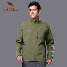 Lạc Đà ngoài trời vỏ mềm quần áo nam chống gió lông cừu ấm áp nam tay dài cổ vỏ mềm áo khoác