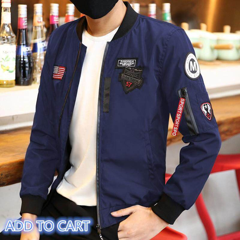Victory New Man Baseball Collar Flight Suit Coat Youth Leisure Time Fashion  Business Affairs Work Jacket 5e6c7ea23a