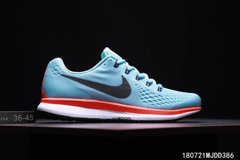 2019 Nike_AIR ZOOM PEGASUS 34 Men's Running Shoe Fashion Casual Sports Sneakers (Red/Blue)