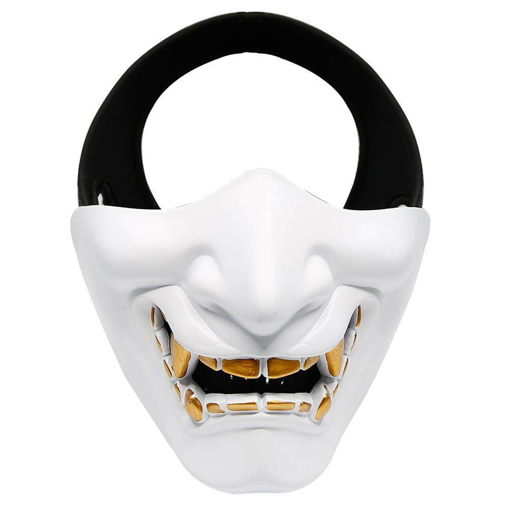 Hoopchina Half Mask with Metal Mesh Protection CS Survival Game Masquerade Halloween Role Playing Mask