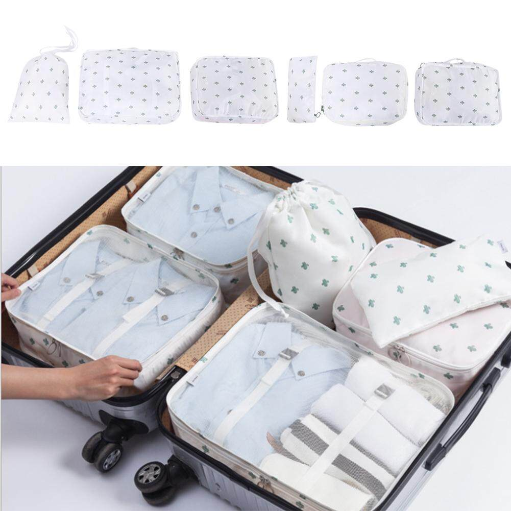 9b5d1e6969dc 6Pcs Travel Storage Bags Waterproof Clothes Packing Cube Luggage Organizer  Set