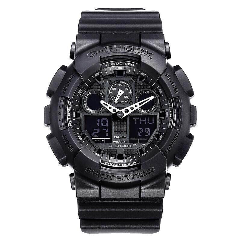 ยี่ห้อไหนดี  พิจิตร 【 STOCK】Original _ Casio Casio _ G-Shock GA-100 Duo W/เวลา 200M กันน้ำกันกระแทกและกันน้ำ world Time นาฬิกากีฬาไฟแอลอีดีอัตโนมัติ Wist นาฬิกากีฬาสำหรับผู้ชาย GA-100-1A1