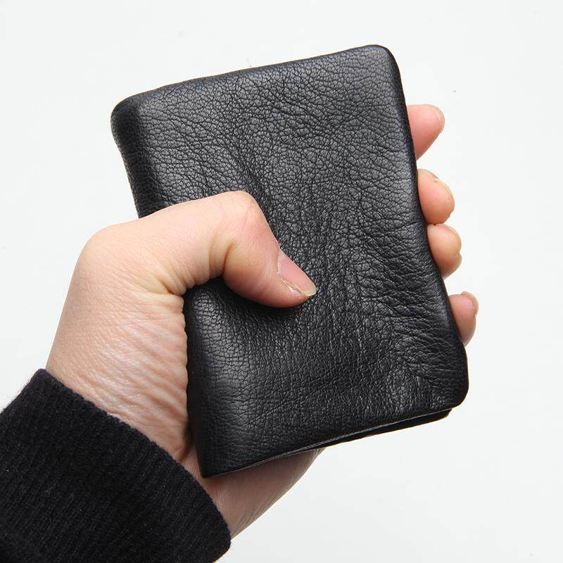 LANSPACE brand men/'s leather wallet fashion short handmade men/'s leather purse