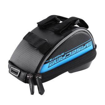 BaseCamp Waterproof Portable Bicycle Frame Phone Holder Bag Bike Handlebar Bag(blue)
