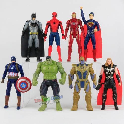 Action Figures Thor The Hulk Batman Superman Iron Man Captain America Kids Toys