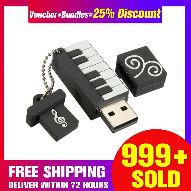 【Free Shipping + Super Deal + Limited Offer】Cartoon Mini Piano 64GB USB 2.0 Flash Memory Stick Pen Drive Thumb U Disk Gift image