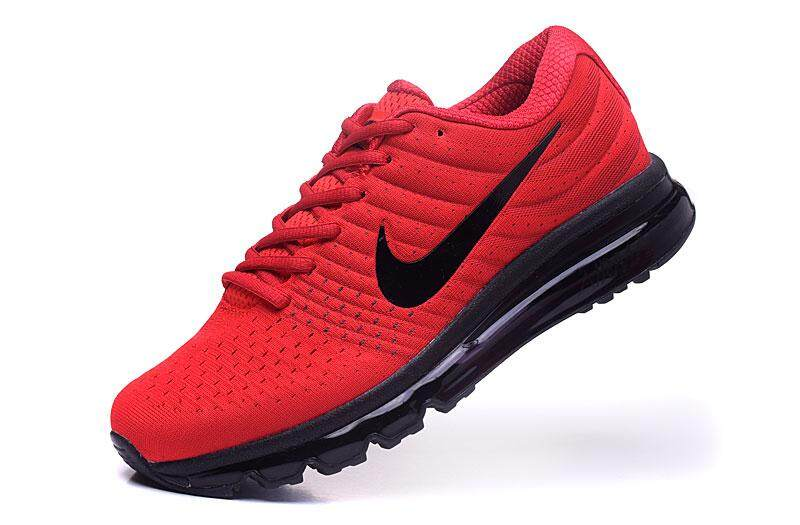 low cost 3899a b8932 Nike Men s Air Max 2017 Running Shoes Fashion Sneaker Casual Shoes (Black  Red)