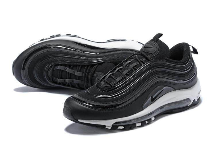 Nike Official Air Max 97 Low Top Running Shoe Sport Women ( Black White ) By Cns166.