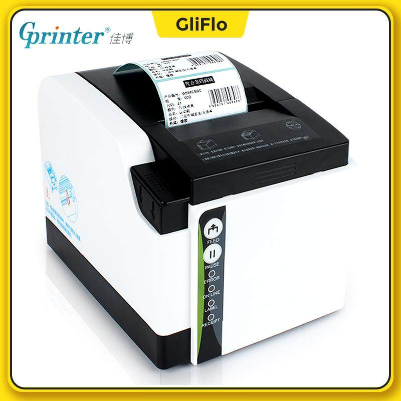 [2in1] GPrinter GP-ZH308I (New)Thermal Receipt+label printer 80mm barcode  tag with cutter (USB+Bluetooth PC+Phone version)