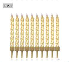 10Pcs Birthday Cake Candles Spiral Wedding Party Festival Celebrations Ornaments Decor – intl