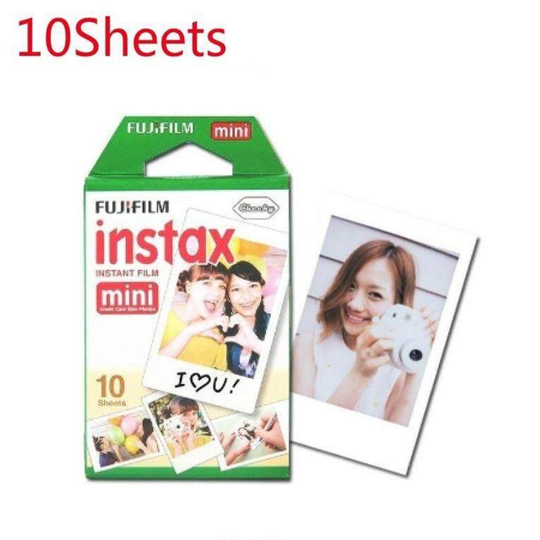 BELLE 10pcs used in Fuji Instax Mini Camera Film 10 Sheets White Edge Photo Paper white edge