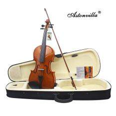 Astonvilla 4/4 + log electro-acoustic violin shoulder rest cloth + chord + + + bow + Rosin Qinhe + cable – intl