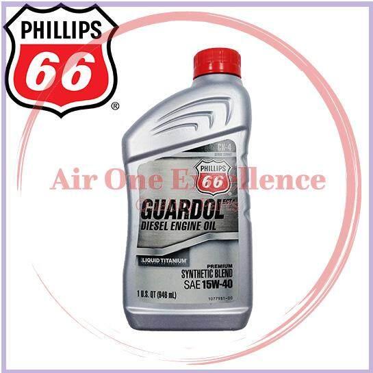 PHILLIPS 66 GUARDOL ECT SAE 15W-40 Semi Synthetic Blend API CK-4 Liquid Titanium Diesel Engine Oil 1 US Quart (946ml)