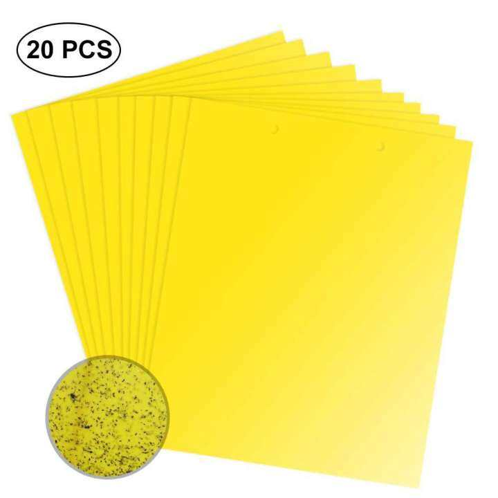 Yellow Dual-Sided Sticky Fly Traps for Plant Insect Like Fungus Gnats,Leafminers,Various Whiteflies and a Variety of Double-Winged pests