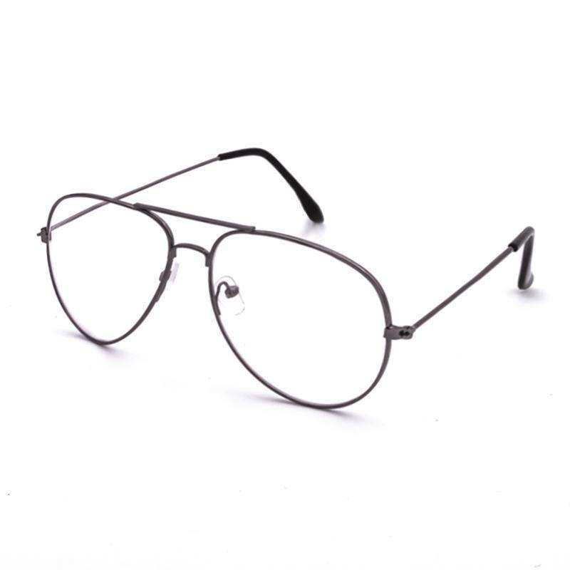 258469d572b Classic Women Sunglasses Aviation Alloy Frame Clear Lenses Sun Glasses Men  Women Transparent Lens Glasses oculos
