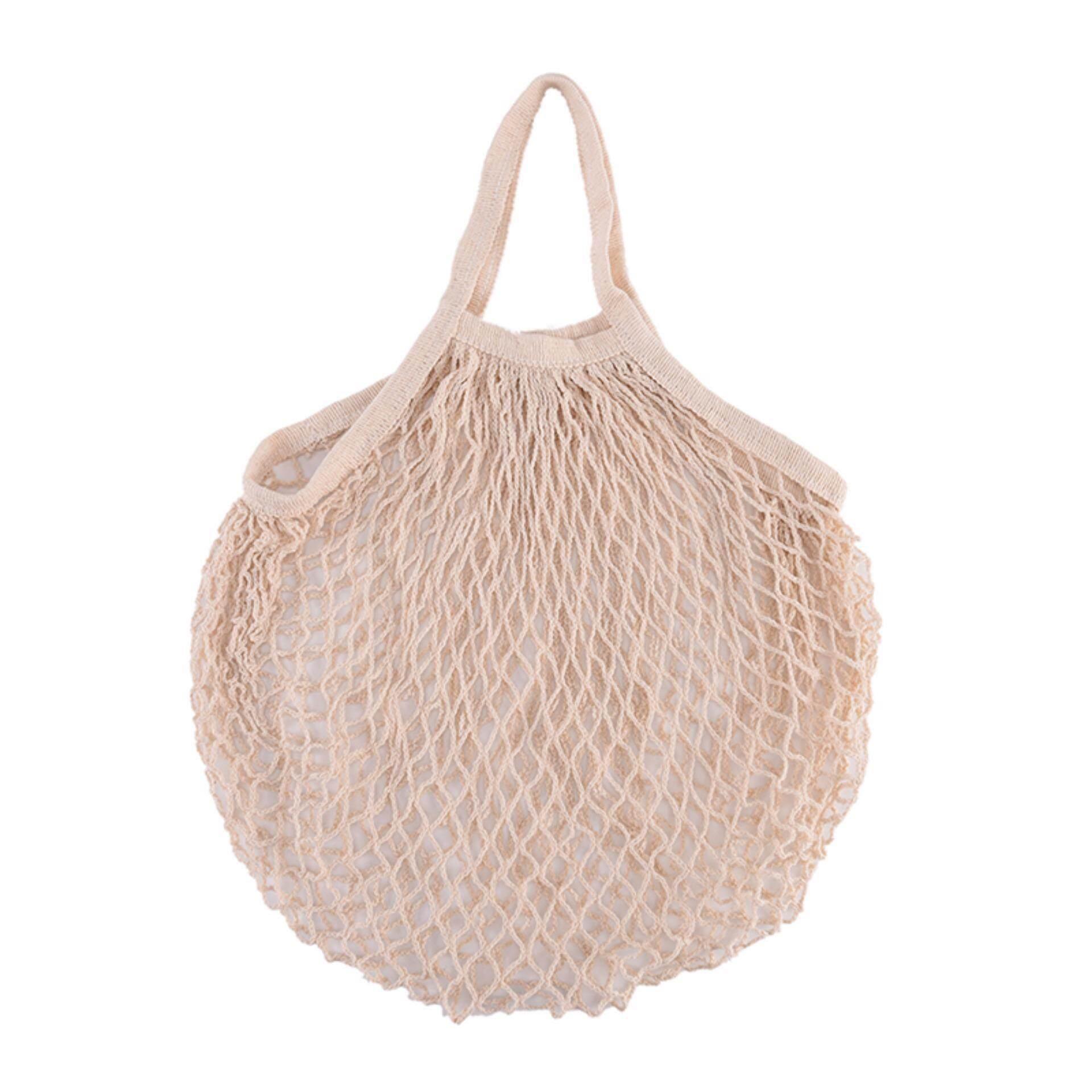 Eco Reusable Shopping String Grocery Handbags Woven Net Tote Mesh Bag Fishnet White