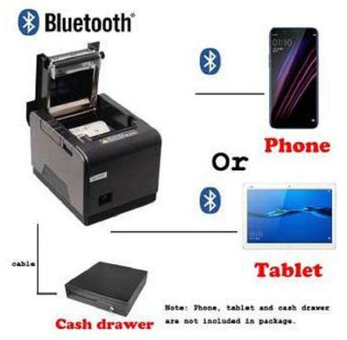FREE P.O.S Loyverse Pos 80mm Bluetooth Thermal Receipt Printer Pay Bill Connect Android phone and tablet Auto cutter