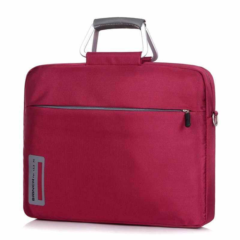 EverPro BR inch 13 14.1 15.6 inch nylon material aluminum alloy laptop computer bags for men and women one shoulder laptop bag, 14 inch+ (Red)