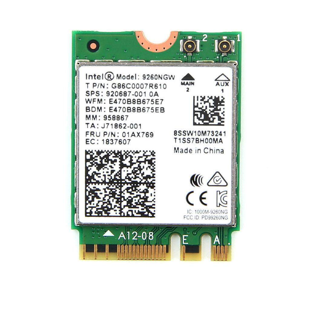 1730Mbps For Intel 9260NGW NGFF 802.11ac Dual Band WiFi Bluetooth 5.0 Wireless Card