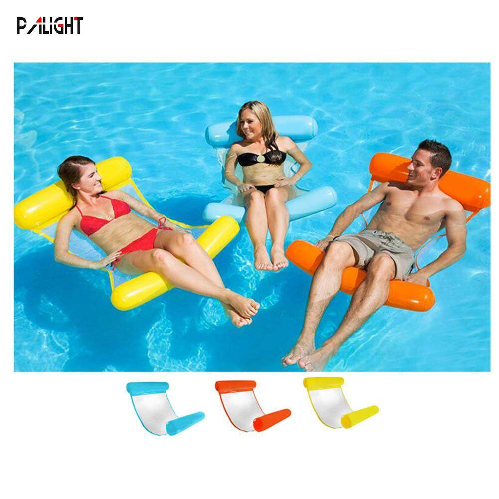 PVC Water Hammock Inflatable Floating Float Pool Lounge Bed Swimming Chair Beach