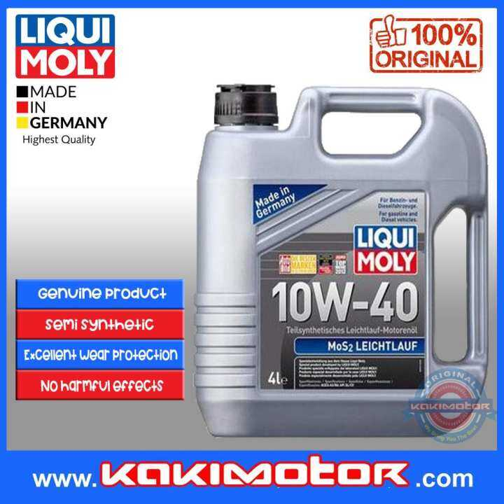 liqui moly mos2 leichtlauf 10w40 4l lazada. Black Bedroom Furniture Sets. Home Design Ideas